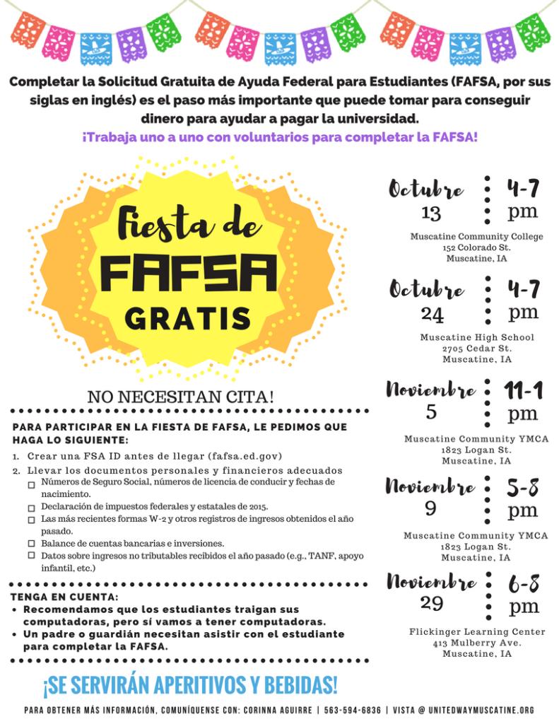 8.5 x 11 FAFSA Workshop Flyer